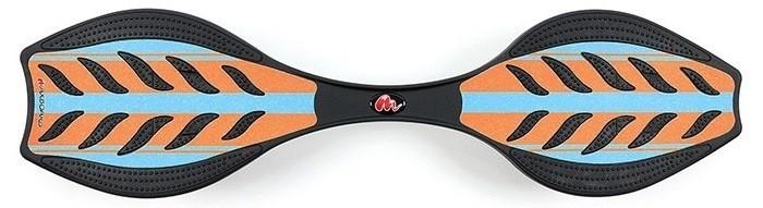 Maxboard double orange blue für Kinder und Erwachsene mit breiten, orangefarbenen Streifen auf hellblauer Fläche